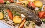 Морская рыба в духовке