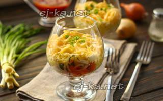Норвежский с семгой салат