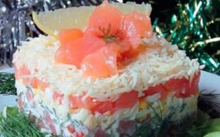 Салат нежность с рыбными консервами