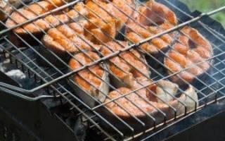 Рыба запеченная на мангале