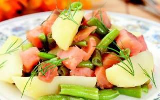 Салат из зубатки горячего копчения