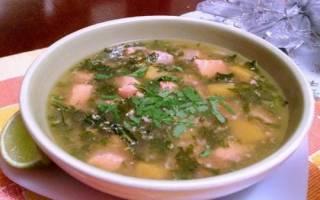 Суп из головы и хвоста форели