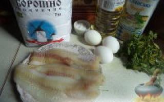 Кляр для рыбы на кефире