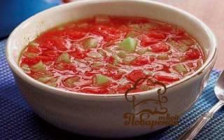 Окрошка с килькой в томатном соусе