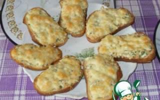 Горячие бутерброды с горбушей в духовке