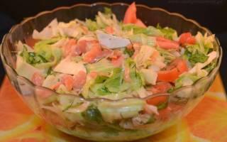 Салат из кеты соленой