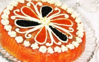Торт из красной рыбы