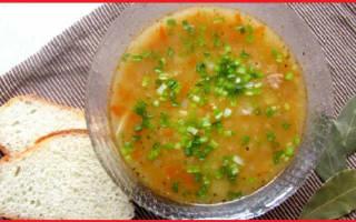 Суп из консервированного тунца
