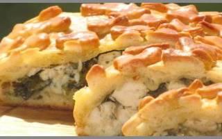 Пирог из стерляди
