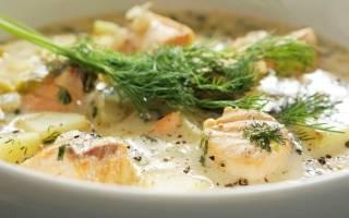 Рыбный сливочный суп