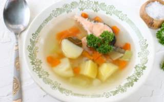Суп рыбный из кеты