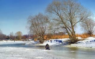 Рыбалка по открытой воде в марте