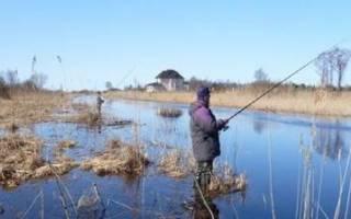 Рыбалка в марте на удочку
