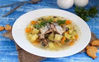 Суп с пшеном и сайрой