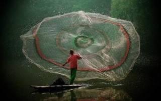 Ловля рыбы на парашют