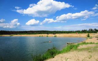Рыбалка на бисеровском озере