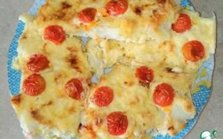 Треска с сыром