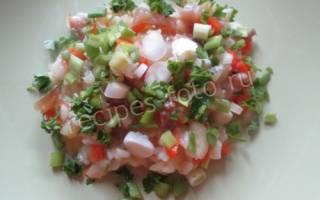 Салат из воблы