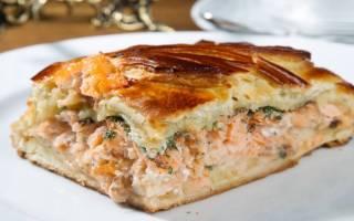 Пирог рыбный в мультиварке
