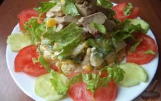 Салат с печенью трески слоеный