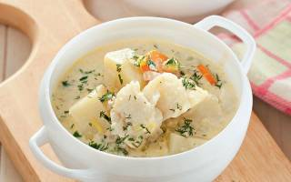 Суп из трески с картофелем