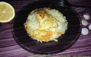 Горбуша в духовке с рисом